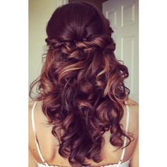 15 Pretty Prom Hairstyles for 2015 Boho, Retro, Edgy Hair Styles ❤ liked on Polyvore featuring beauty products, haircare, hair styling tools, hair, hairstyles, beauty and hair styles