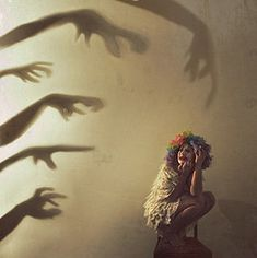 Rosie Hardy-shadow portrait This is what gossip and bullying feels like. Conceptual Photography, Dark Photography, Creative Photography, Light And Shadow Photography, Creepy Photography, Emotional Photography, Self Portrait Photography, Rosie Hardy, Shadow Art