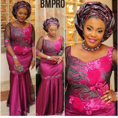 Check Out The Beautiful Lace Aso Ebi Styles http://www.dezangozone.com/2016/08/check-out-beautiful-lace-aso-ebi-styles.html