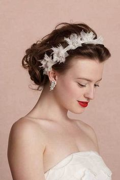 messy wedding updo for brown hair