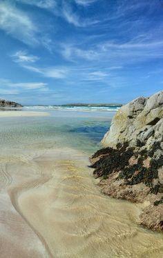 The stunning beach at Ceannabeinne in the far North of Scotland