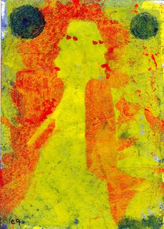 separate lives e9Art ACEO Outsider Art Brut Figurative Abstract Intuitive Painting Primitive Visionary