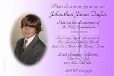 Communion Cross Invitations PURPLE - Digital Download - Get these invitations RIGHT NOW. Design yourself online, download and print IMMEDIATELY! Or choose my printing services. No software download is required. Free to try! Holy Communion Invitations, Diy Invitations, Savior, Printing Services, Catholic, Software, Purple, Digital, Prints