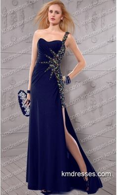Glamorous jeweled sexy side slit floor length one shoulder gown.prom dresses,formal dresses,ball gown,homecoming dresses,party dress,evening dresses,sequin dresses,cocktail dresses,graduation dresses,formal gowns,prom gown,evening gown.