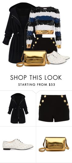 """Glittering from day one"" by mssantos ❤ liked on Polyvore featuring Boutique Moschino, Tod's, Marni and Sonia Rykiel"
