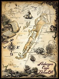 Pirates used the island of Ambergris Caye, Belize as a safe haven in the 1600's: