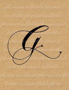 Lettera G Cuore 278 Digital Download Alfabeto iniziale Nome Glyph carattere font Tipografia clipart on Etsy, €1,54