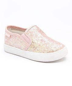 Carters Pink Glitter Tween Slip-On Shoe | zulily