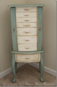 jewelry armoire makeover creative home expressions - Stand Up Jewelry Box