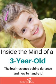 The brain-science behind defiance. How the immature 3-year-old brain creates a disconnect between knowing better and doing better. How parents can help bridge that gap and diffuse power struggles and defiance once and for all!!! #3yearolds #toddlers #toddlerbrain #toddlerdefiance #positiveparenting #mindfulparenting