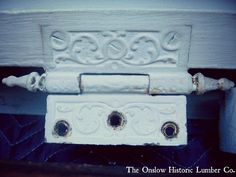 Embossed hinges - starting at $12 each www.onslowhistoriclumber.ca