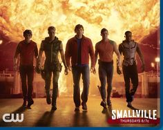 Smallville - Green Arrow working with other 'Heroes' and Clark Kent who he calls 'Boy Scout'