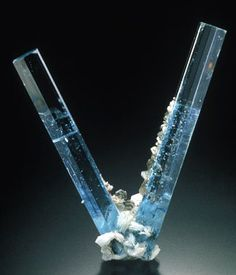 "the ""Peace man"" Aquamarine specimen..very very clean and very intense blue! stunning -   Pakistan"