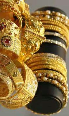 Bangles, Bracelets, Bella, Gold, Jewelry, Fashion, Woman, Elegant, Moda
