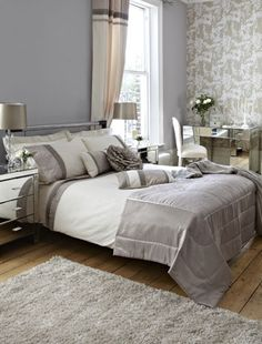 Loving this look for a bedroom... possibly a little more color! :)