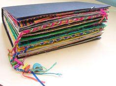 Sarah Seven Frida Kahlo altered book sketchbook.