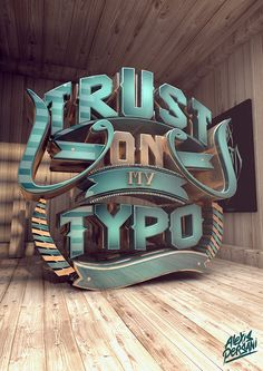 Be inspired and start designing with these 21 creative typography and lettering design inspiration. A showcase of great design to boost up your creativity and get it going for your project. Chinese Typography, Typography Letters, Typography Poster, 3d Poster, Typography Served, Vintage Typography, Web Design, Design Blog, Logo Design