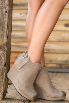 Get A Kick Out of It Wedge-Taupe - New Today | The Red Dress Boutique
