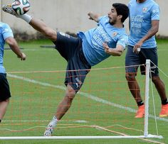 A selection of images of Liverpool forward Luis Suarez in training with Uruguay... - http://footballersfanpage.co.uk/a-selection-of-images-of-liverpool-forward-luis-suarez-in-training-with-uruguay/