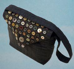 Button Handbag Brown Wool  Booboo Bags, Folksy