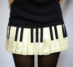 SUPER RARE Vintage Moschino Piano Key Dress, via Etsy.