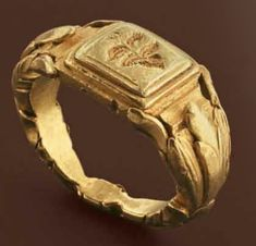 Gold ring with vegetable motifs, Roman 3rd century A.D.