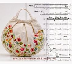Deshilachado, Nice hand embroidered purse by Atelier Rococo. An Rapisarda Grazie, anch'io l'avevo vista ma qui Art and Craft Ideas: Handmade bag tutorial ideas Fashion Templates for Measure How to cut bag My Bags, Purses And Bags, Bag Quilt, Craft Bags, Purse Patterns, Sewing Patterns, Sewing Tutorials, Quilted Bag, Fabric Bags