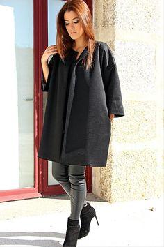 Menina & Moça Quilted Black Coat