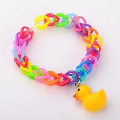 Gummibänder Armbänder mit Harz gelbe Ente Anhänger, so süß, nicht wahr?