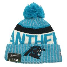 977bafd93 Buy New Era Carolina Panthers Knit Beanie Cap Hat NFL On Field Sideline  11460406 at Walmart.com
