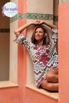 Tunic Majda・Moroccan Blue Palace lookbook