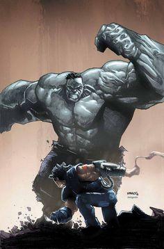 AoA Wolverine vs. The Hulk - Humberto Ramos