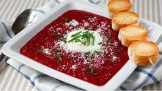 Když řeknete polévka z řepy, napadne vás určitě boršč. Ale z řepy můžete připravit i skvělou bezmasou polévku, se specifickou sladkokyselou chutí, která skvěle pasuje k podzimu. Nechte si chutnat! Palak Paneer, Camembert Cheese, Food And Drink, Ethnic Recipes, Soups, Image, Soup