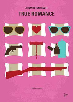 Chungkong Art - No736 My True Romance minimal movie poster