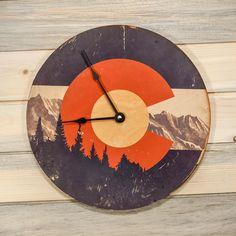 Kelly Mochel Rustic CO Clock @ http://www.iheartdenverstore.com