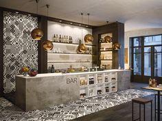 Brick Interior, Restaurant Interior Design, Shop Interior Design, Interior Architecture, House Design, Design Bar Restaurant, Restaurant Concept, Coffee Shop Bar, Coffee Shop Design