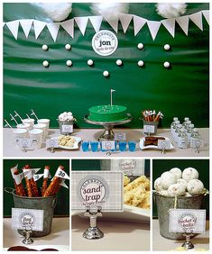 Fun party theme idea for Father's Day or a golf lover's birthday