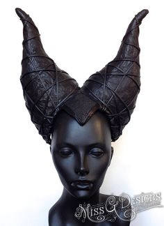 MADE TO ORDER Maleficent Horn Headdress by MissGDesignsShop, $300.00