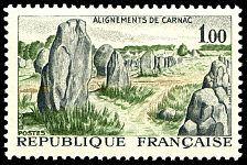 Alignements de Carnac - Timbre de 1965