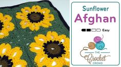 Crochet Vintage Sunflower Throw + Tutorial