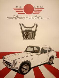 Honda S800 Classic Japanese Cars, Classic Cars, Moto Car, Honda Cars, Honda S2000, Porsche 356, Cute Cars, Car Wheels, Small Cars