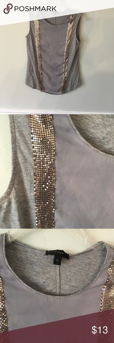 36c22c0a83 Jcrew grey shirt with silver metal detail xs. Poshmark