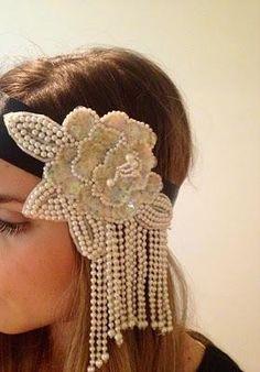 DIY Tutorial DIY WEDDING / DIY | Gatsby Inspired Headband - Bead&Cord