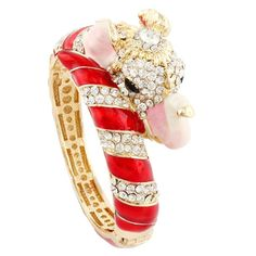 "EVER FAITH Women's Austrian Crystal Enamel Gorgeous Elephant Animal Bangle Bracelet Red Gold-Tone. [!]EVER FAITH® is a US registered trademark and Ever Faith Jewelry is its only owner. This jewelry is inspired from animal, which is the most popular subject in the jewelry world nowadays. We can find the animal jewelry accessories on celebrities easily. Height: 3cm(1.18""), Inside Diameter: 6.2cm(2.44""), Weight: 68g. Intended Use:..."