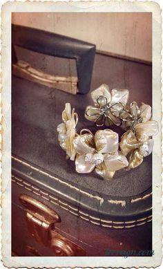 Hana Bloom Cuff-- $39        Mother of Pearl Bracelet    www.terreign.com