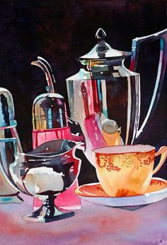 Anne Abgott Canadian born, Anne Abgott, maintains studios in Cortez, Florida and Linville, No. Watercolor Landscape, Watercolor And Ink, Watercolour Painting, Watercolors, Watercolor Artists, Painting Still Life, Still Life Art, Painting Inspiration, Art Inspo