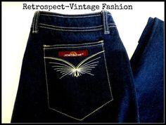 1970's vintage dark blue denim JORDACHE  jeans //  by HannahBe