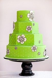 Hexagonal Wedding Cakes