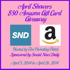 One lucky reader of Social News Daily and The Parenting Patch will #win a $50 Amazon gift card! #Giveaway ends April 27 (12:00am).