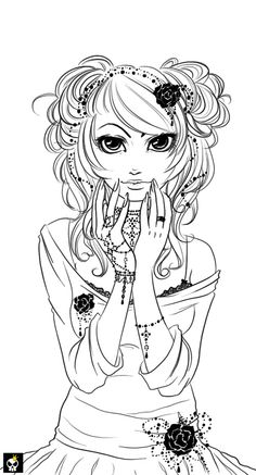 . black pearls lineart . by `karincoma on deviantART